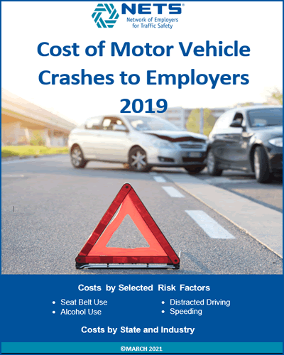 Cost of Motor Vehicle Crashes to Employers - 2019 Report Cover